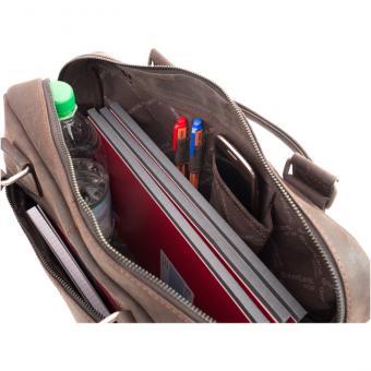 Lehrertasche XL, Büffel-Leder - dunkelbraun