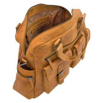 Lehrertasche XL aus Büffel-Leder in Hellbraun