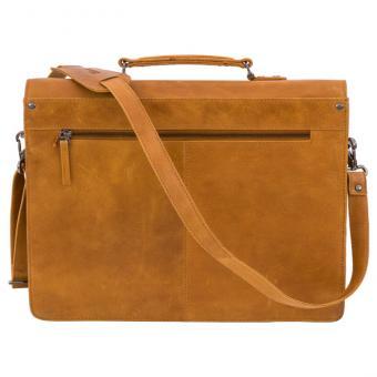Lehrertasche aus Büffel-Leder - hellbraun