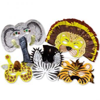 Blanko-Masken Wilde Tiere