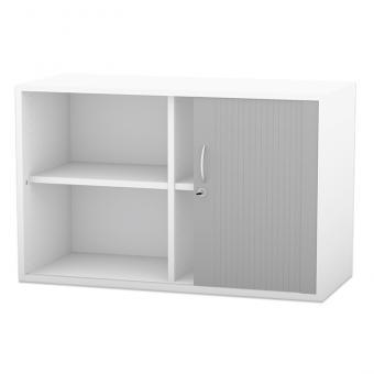 Aufsatz-Rollladenschrank mit Mittelwand, 2 verstellbaren Böden, 60,6 x 126,4 cm