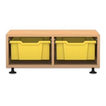 Regale Pro mit Boxen Höhe: 31,9 cm 2-reihig mit 2 hohen Box