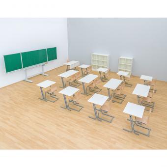 Lehrertisch swing mit Blende