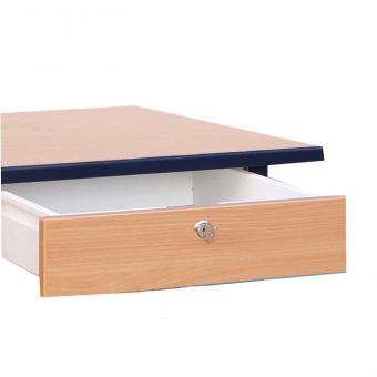 Lehrertisch L-Fuß mit abschließbarer Schublade