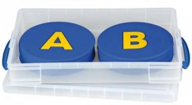 Buchstaben-Matten mit Box