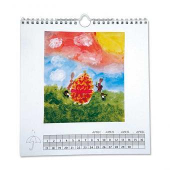 Dauerkalender zum Selbstgestalten, weiß
