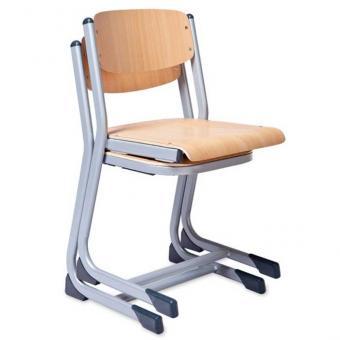 Schülerstühle, C-Fuß mit offenem Sitzträger
