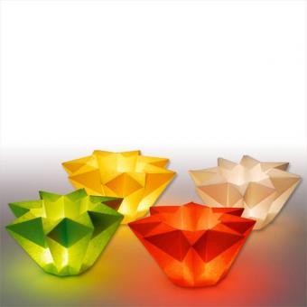 Faltblätter aus Lichtpapier in 6 Farben sortiert