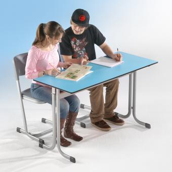 Schülertisch einsitzig - ohne Ablage -