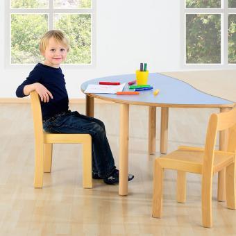 Massivholz Stuhl Sitzhöhe: 34 cm