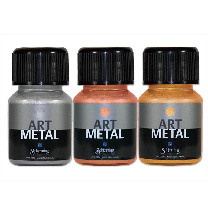 Metallic Farben 3er Set In Gold Silber Kupfer Gunstig Online