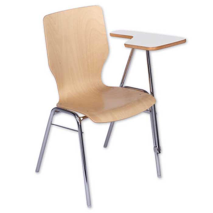 Fachraum Stuhl Mit Praktischer Schreib Und Arbeitsfläche Günstig