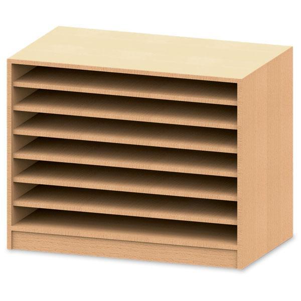 offener papierschrank mit sockel g nstig online kaufen. Black Bedroom Furniture Sets. Home Design Ideas