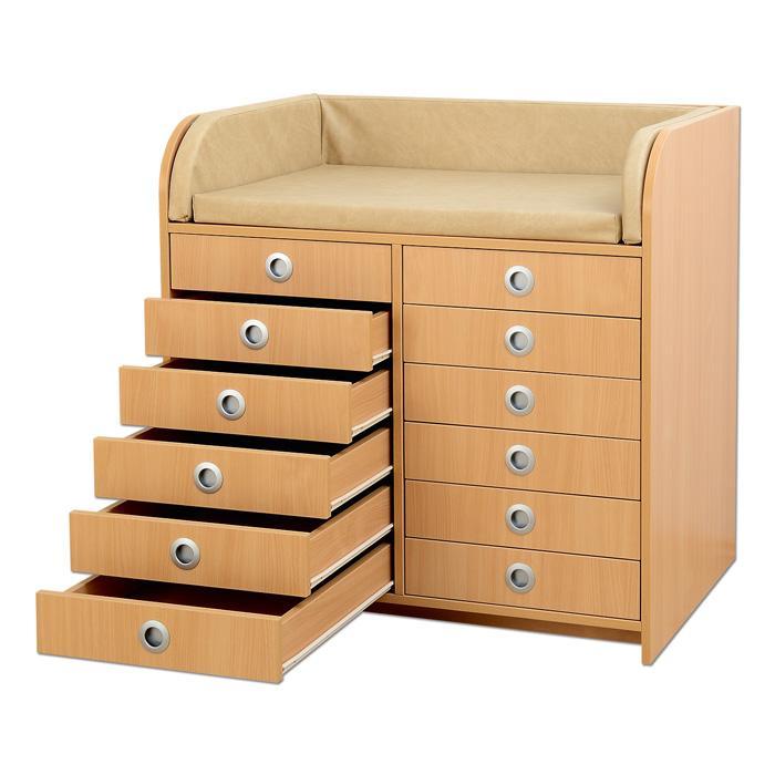 wickelkommode mit 12 schubladen g nstig online kaufen. Black Bedroom Furniture Sets. Home Design Ideas