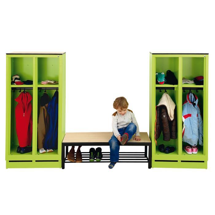 stahl garderobenschrank mit bank die perfekte kombination g nstig online kaufen. Black Bedroom Furniture Sets. Home Design Ideas