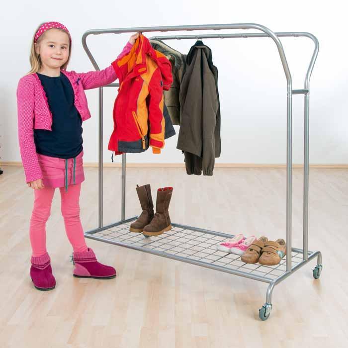 garderobenwagen mit 14 haken f r kinderg rten g nstig online kaufen. Black Bedroom Furniture Sets. Home Design Ideas