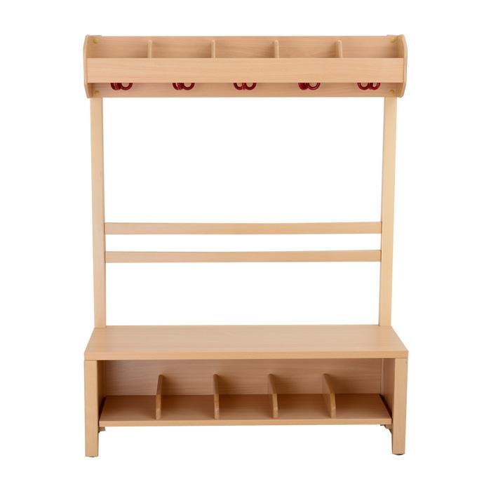garderobenbank aus holz mit schuhf chern g nstig online kaufen. Black Bedroom Furniture Sets. Home Design Ideas