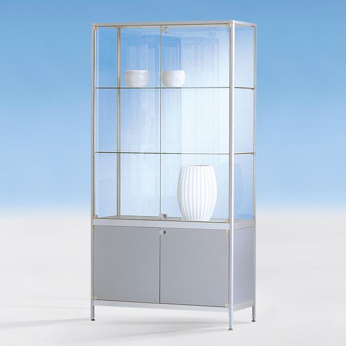 standvitrine nic2000 brandschutz ausf hrung mit unterschrank g nstig online kaufen. Black Bedroom Furniture Sets. Home Design Ideas