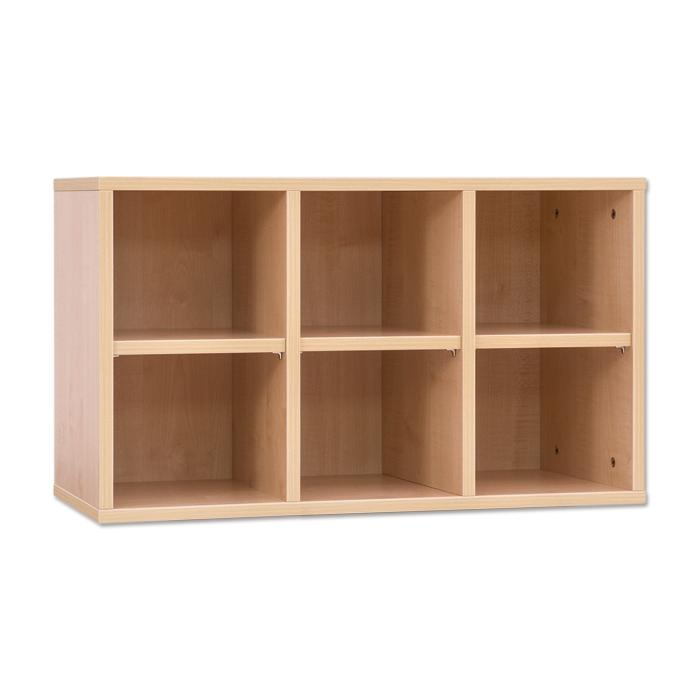 boxenregal mit 6 f chern g nstig online kaufen. Black Bedroom Furniture Sets. Home Design Ideas