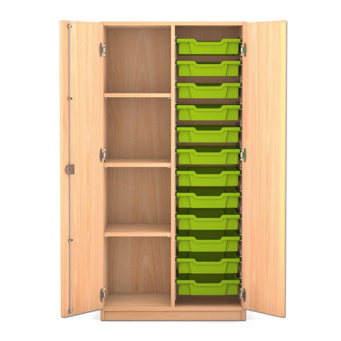 mittelhoher schrank 143 9 x 73 1 x 50 cm mit 12 boxen und 3 b den g nstig online kaufen. Black Bedroom Furniture Sets. Home Design Ideas