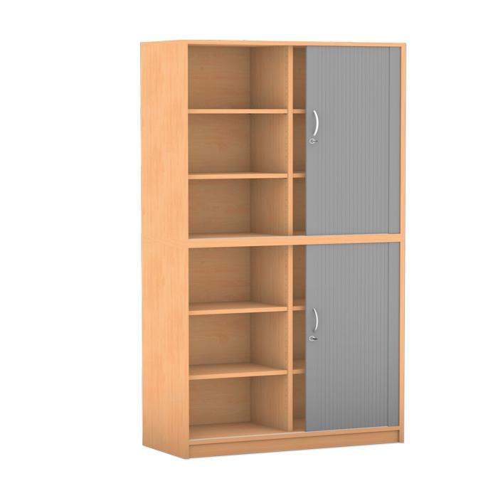 rollladen schrank breite 126 4 cm 2 halbt ren mit. Black Bedroom Furniture Sets. Home Design Ideas