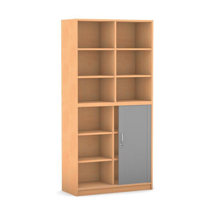 rollladen schrank breite 94 4 cm 1 halbt r mit. Black Bedroom Furniture Sets. Home Design Ideas