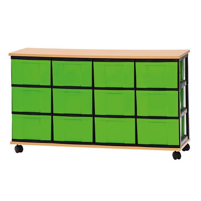 materialschrank 12 hohe boxen mit 12 hohen boxen g nstig online kaufen. Black Bedroom Furniture Sets. Home Design Ideas