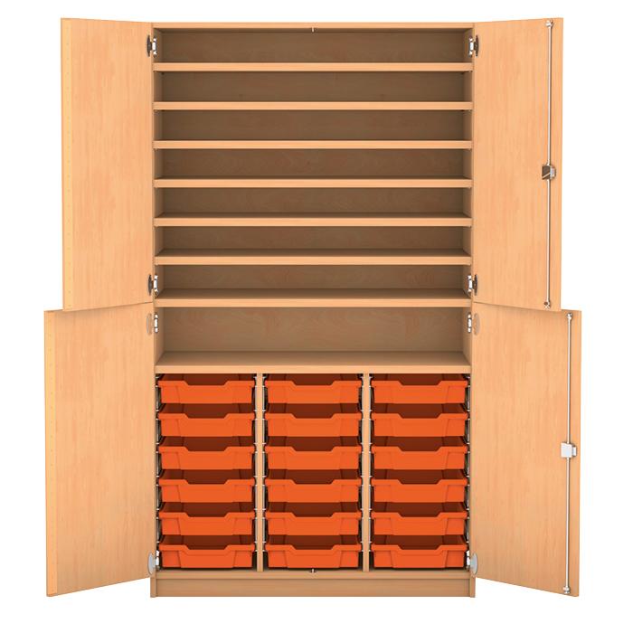 bastelschrank mit 18 flachen boxen g nstig online kaufen. Black Bedroom Furniture Sets. Home Design Ideas
