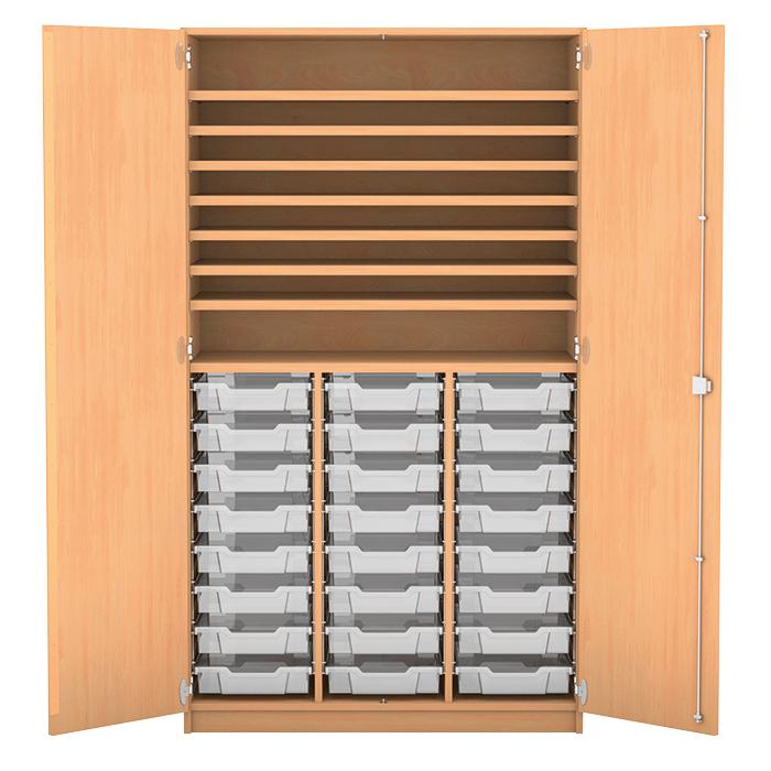 bastelschrank mit 24 flachen boxen g nstig online kaufen. Black Bedroom Furniture Sets. Home Design Ideas