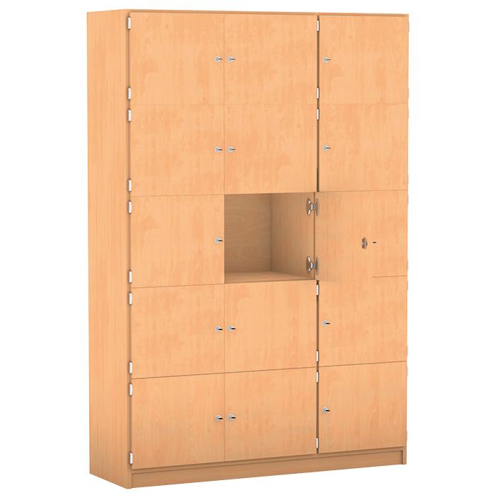 Schließfachschränke ohne Briefschlitz - Breite: 142,5 cm, 16 Fächer ...