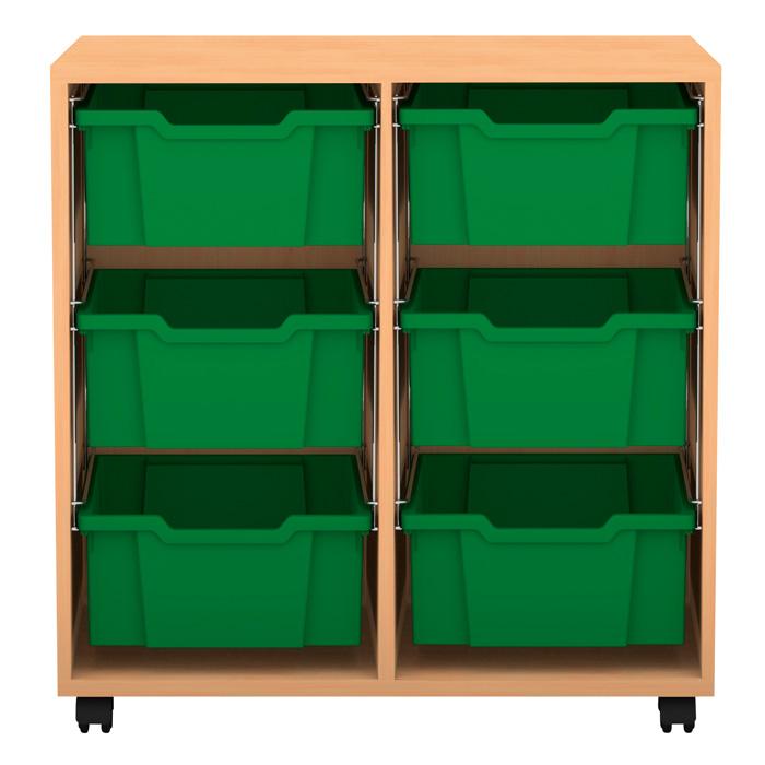 regal pro 76 7 x 73 1 x 48 mit 6 boxen g nstig online kaufen. Black Bedroom Furniture Sets. Home Design Ideas