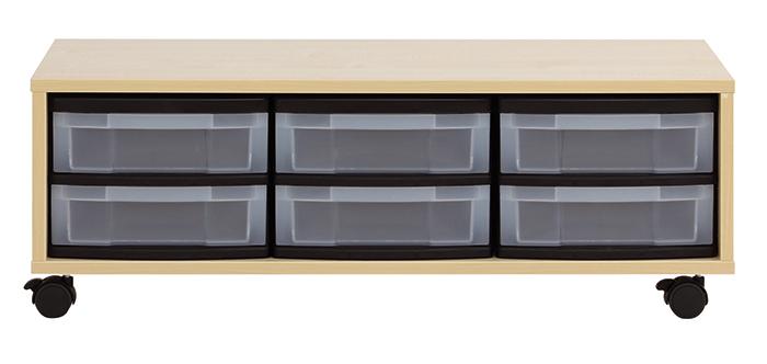 materialschrank 6 flache boxen 3 reihig g nstig online kaufen. Black Bedroom Furniture Sets. Home Design Ideas