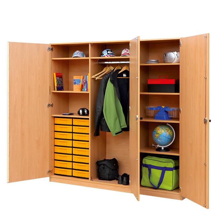 flexeo systemschrank pluto mit 16 flachen boxen g nstig online kaufen. Black Bedroom Furniture Sets. Home Design Ideas