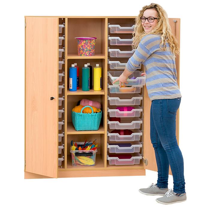 mittelhoher schrank 3 verstellbare b den 24 flache boxen dreht ren g nstig online kaufen. Black Bedroom Furniture Sets. Home Design Ideas