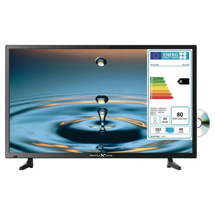 reflexion led tv mit dvd player 40 mit integriertem. Black Bedroom Furniture Sets. Home Design Ideas