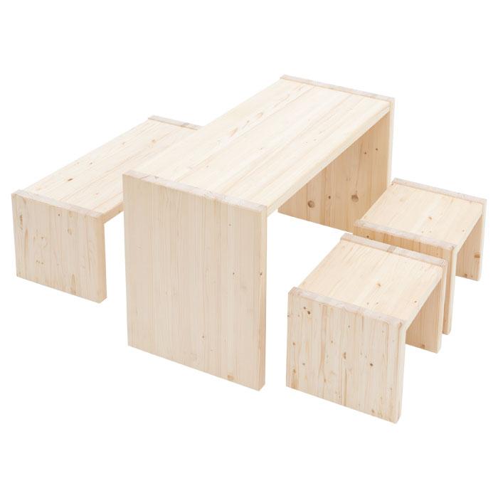 Sitzgruppen-Set Hannes - stabile Holzmöbel für jede Spielecke ...