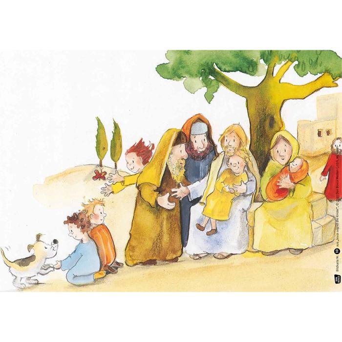Jesus segnet die kinder bildkarten f r das erz hltheater for Die kinder des