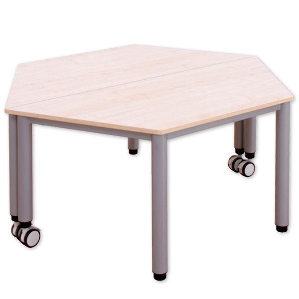 trapez tisch fahrbar mit h henverstellung g nstig. Black Bedroom Furniture Sets. Home Design Ideas