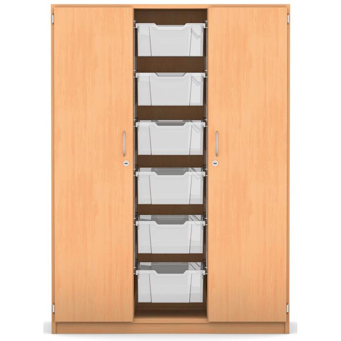 mittelhoher schrank 143 9 x 108 5 x 50 cm mit 6 boxen und 6 b den g nstig online kaufen. Black Bedroom Furniture Sets. Home Design Ideas