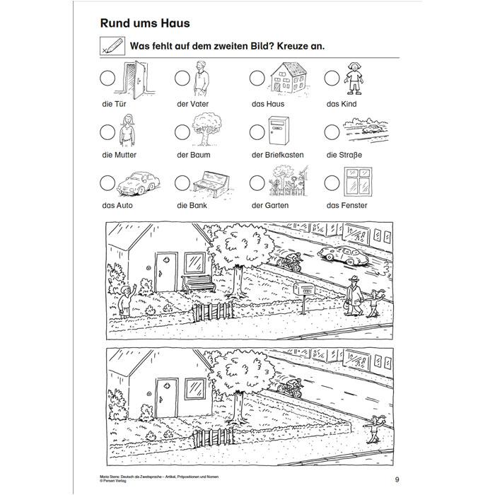 Artikel, Präpositionen und Nomen – Mein Zuhause 1/2 günstig online ...