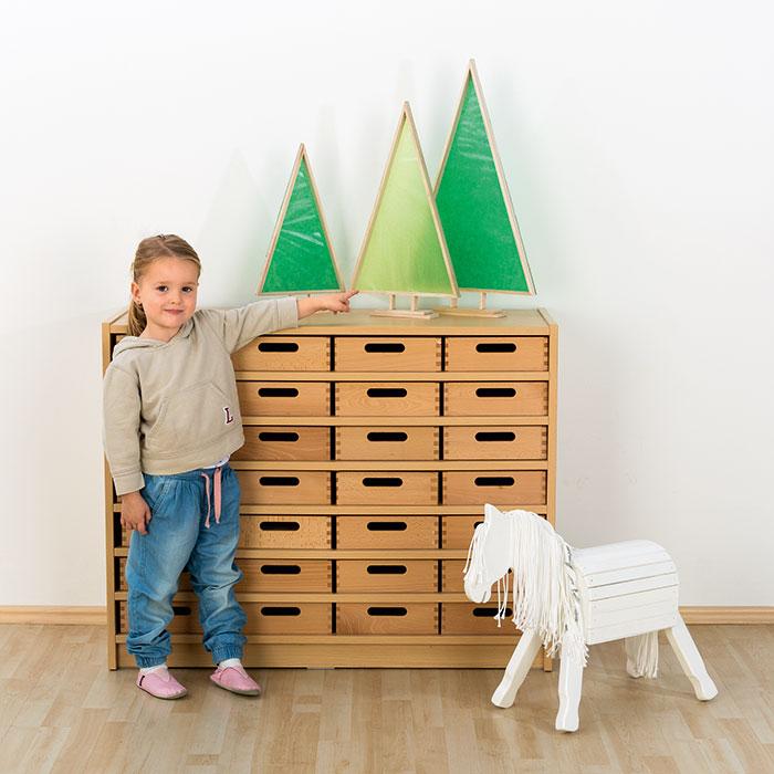 3 tannenb ume silhouetten aus holz g nstig online kaufen. Black Bedroom Furniture Sets. Home Design Ideas