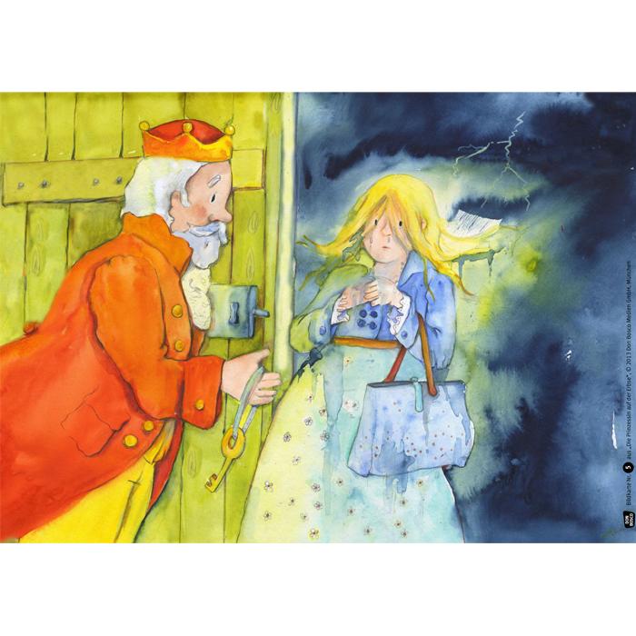 Prinzessin auf der erbse basteln  Die Prinzessin auf der Erbse - Bildkarten für das Erzähltheater ...