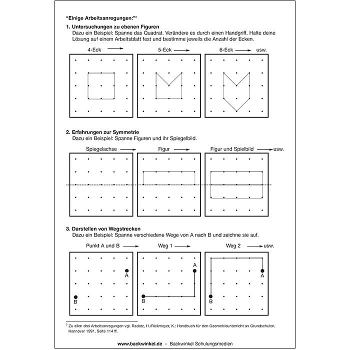 Klassensatz Kleines Geometriebrett günstig online kaufen   backwinkel.de