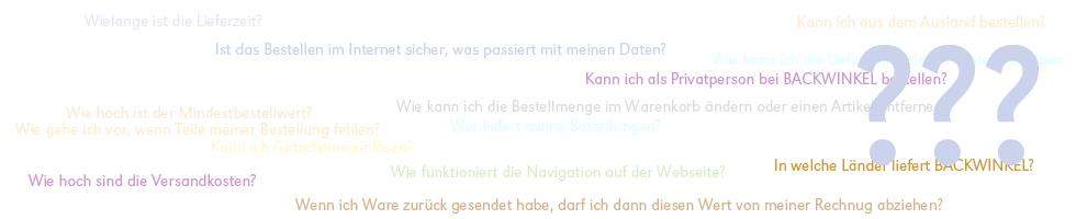 BACKWINKEL GmbH - Häufig gestellte Fragen